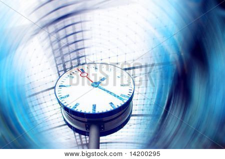 Clock in railway station