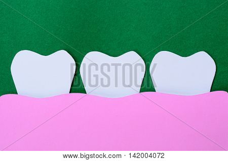 dental paper cut - tooth and gum