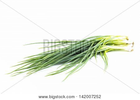 Shallot isolated on white background,Vegetable for health and herb