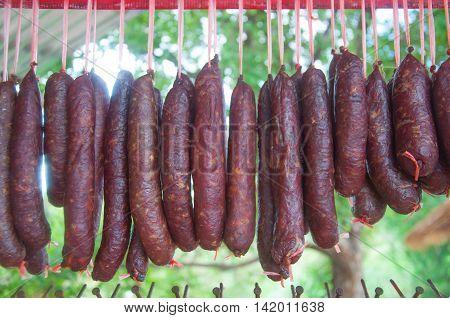 Sausage thai style of northeast in Thailand