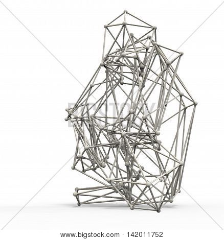 3D Render Illustration Ofmonkey  Structure