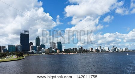 City of Perth Western Australia and Swan River