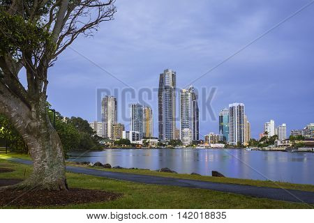 Surfers Paradise skyline, Gold Coast, Queensland, Australia
