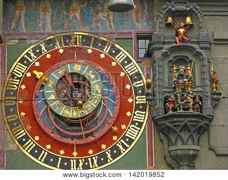 The Zytglogge is the landmark medieval clock tower in the Old City of Bern - Switzerland.