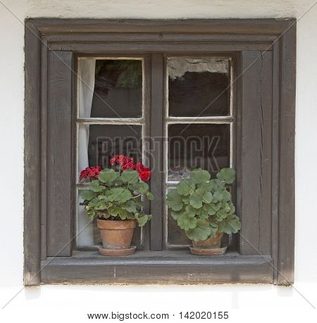 Window old cottage - Traditional medieval dwelling