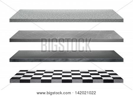 Shelves collection isolated on white background for display