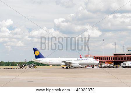 BERLIN, GERMANY - JUNE 22, 2016: Lufthansa Group airplane.