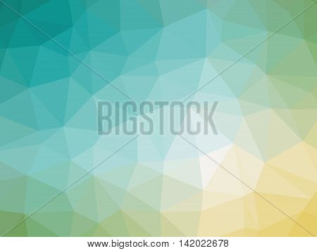 Yellow Teal Gradient Abstract Polygon Shaped Background
