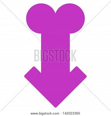 Male Sexual Disfunction vector icon. Style is flat symbol, violet color, rounded angles, white background.