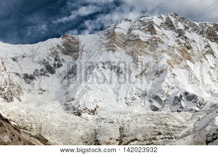 Annapurna. Mount Annapurna from Annapurna base camp Nepal