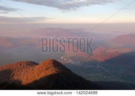 View from mount Strazov Strazovske vrchy Slovakia