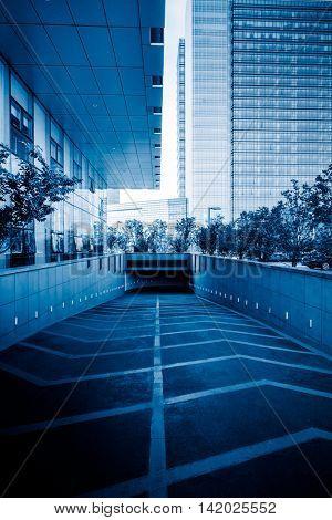city underground parking,shanghai china.