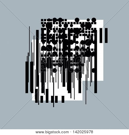 Abstract vector black and white background geometric illustration.