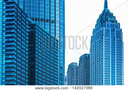 detail of Office buildings in Financial District