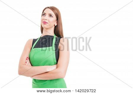 Beautiful Confident Employee Standing With Crossed Arms