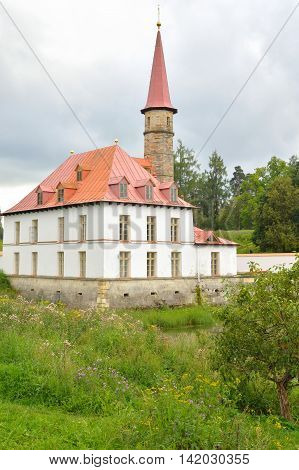 View of Prioratsky Palace in Gatchina Russia.