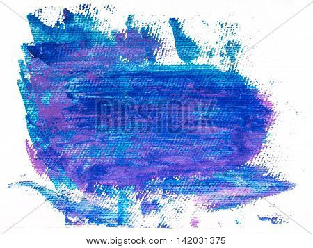 Blue grunge acrylic spot. Abstract blue background