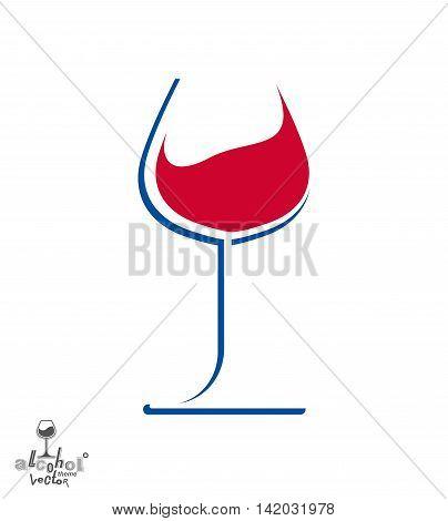 Classic sophisticated wine goblet stylish alcohol theme illustration.
