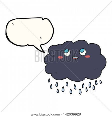 freehand drawn speech bubble cartoon raincloud