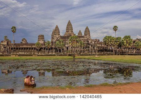 Anghor Watt temple from Siem Reap, Cambodia