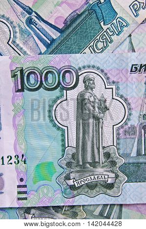 bill, money, ruble, 1000, thousand, finance, budget, economy, background, Currency