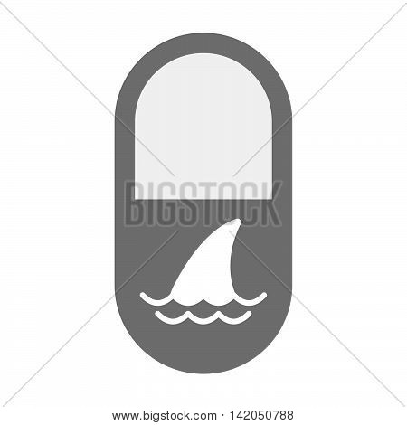 Isolated Pill Icon With A Shark Fin