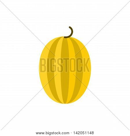 Melon icon in flat style on a white background