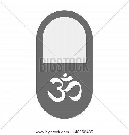Isolated Pill Icon With An Om Sign