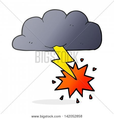 freehand drawn cartoon thundercloud