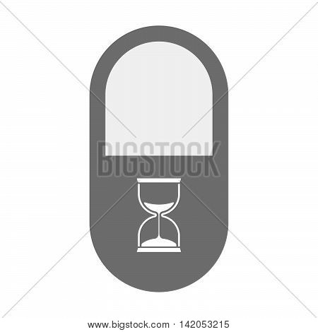 Isolated Pill Icon With A Sand Clock