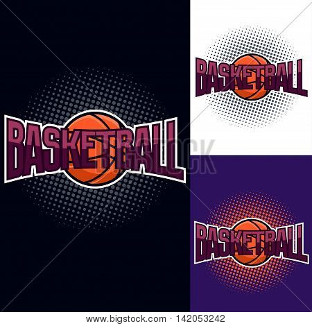 Basketball Colour Tournament Logo