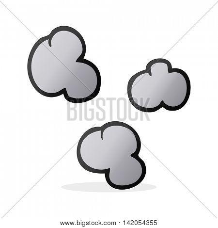 freehand drawn cartoon smoke clouds