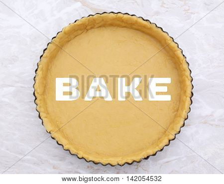 Flan Tin Lined With Shortcrust Pastry - Bake Text