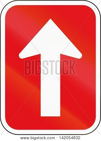 Road Sign Used In The African Country Of Botswana - One-way Roadway