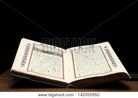 Open holy Quran  high quality studio shot