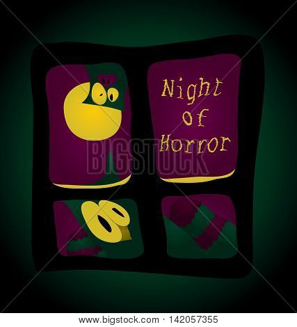 Night terror - you stare out the window a strange creature