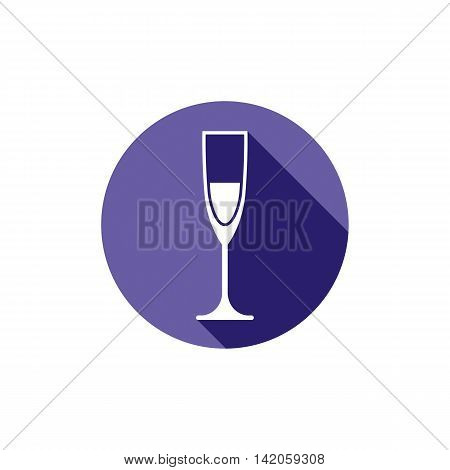 Lifestyle idea conceptual symbol classic champagne glass isolated on white.