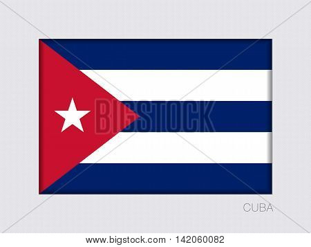 Flag Of Cuba. Rectangular Official Flag With Proportion 2:3