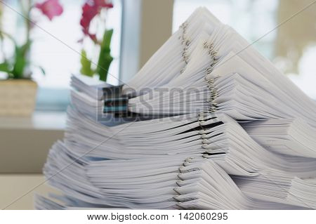 Many Stack Of White Document