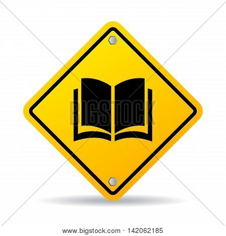 Book vector sign illustration isolated on white background