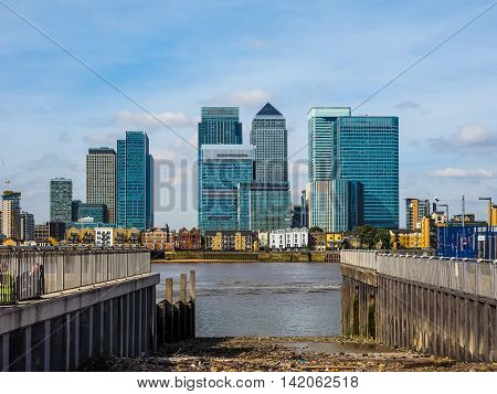 Canary Wharf In London Hdr