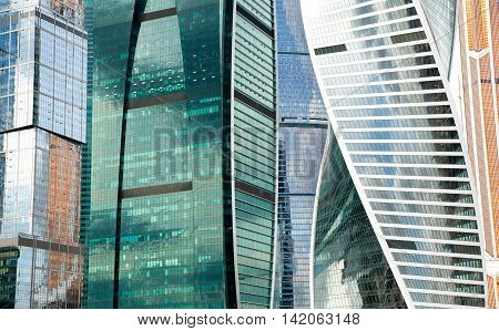 High resolution photo of modern buildings, abstract background