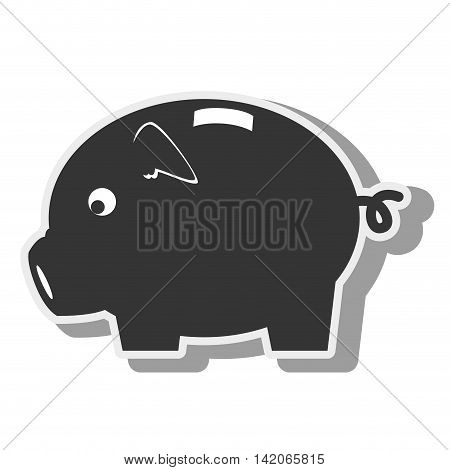 piggy money pig save moneybox coin saving economy finance icon vector graphic isolated and flat illustration