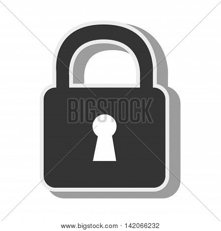 lock security safety safeguard object closed vector graphic isolated and flat illustration