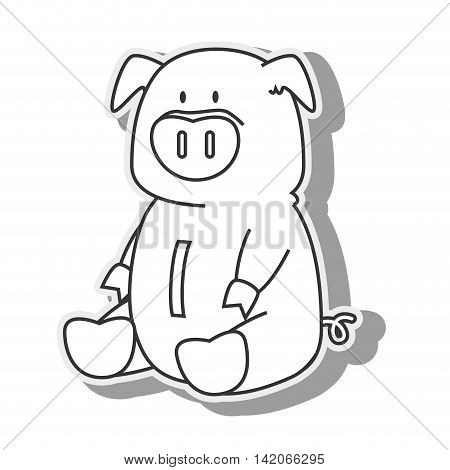 piggy money pig save moneybox coin saving economy finance cute vector graphic isolated and flat illustration