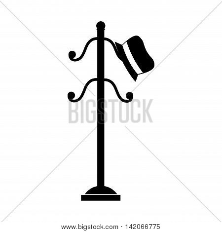 coat rack hat floor hook luxury wood furniture vector graphic isolated and flat illustration