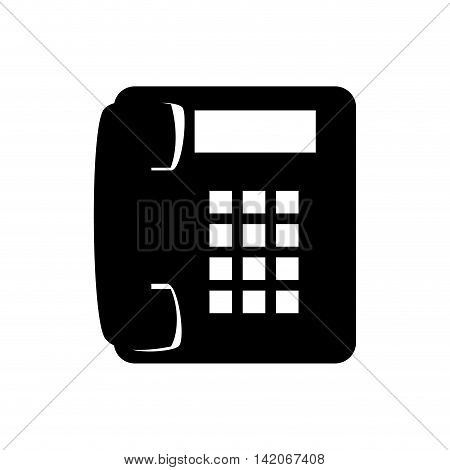 phone telephone line technology home office communication call buttons ring  vector graphic isolated and flat illustration