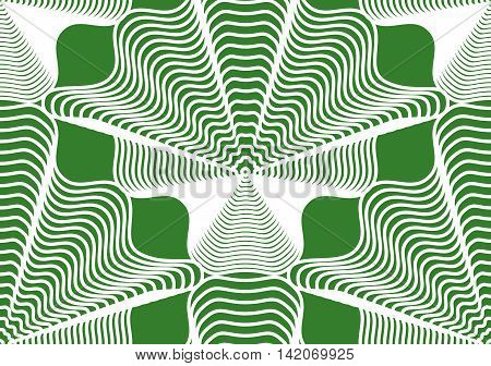 Geometric green stripy seamless pattern bright vector abstract background. Graphic symmetric ornament.
