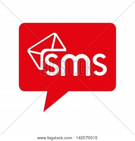 bubble chat sms text mobile connection social vector graphic isolated and flat illustration