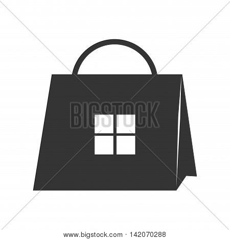 shop bag shopper handle packet commerce store packaging purchase vector graphic isolated and flat illustration